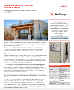 XCEL Energy case study on Minnesota Arena using REALice